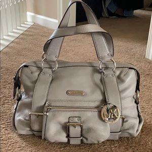 EUC Michael Kors satchel in light grey